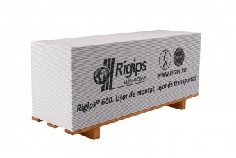 Placă Rigips® din gips-carton RB 9,5 mm/1200x2600 mm